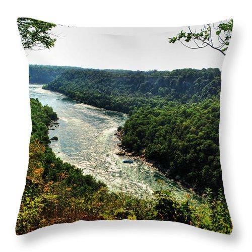 Throw Pillow featuring the photograph 009 Niagara Gorge Trail Series by Michael Frank Jr