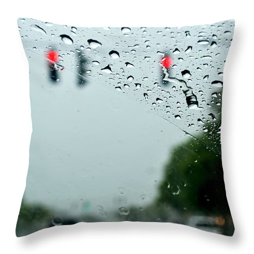 Throw Pillow featuring the photograph 01 Crying Skies by Michael Frank Jr