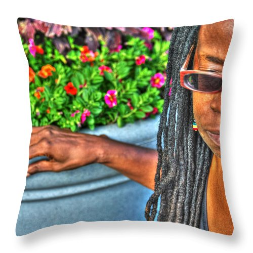 Throw Pillow featuring the photograph 01 The Lioness by Michael Frank Jr