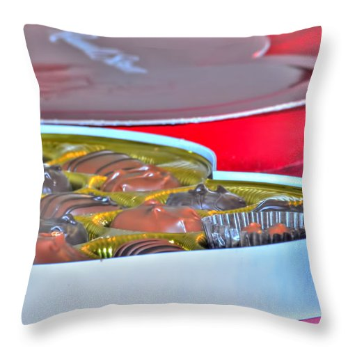 Throw Pillow featuring the photograph 01 Valentines Series by Michael Frank Jr