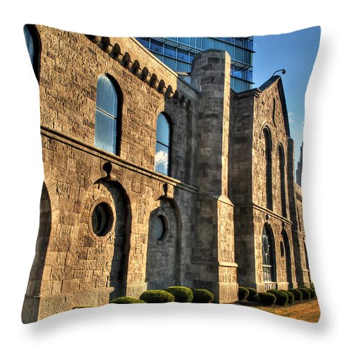 Throw Pillow featuring the photograph 011 Wakening Architectural Dynamics by Michael Frank Jr