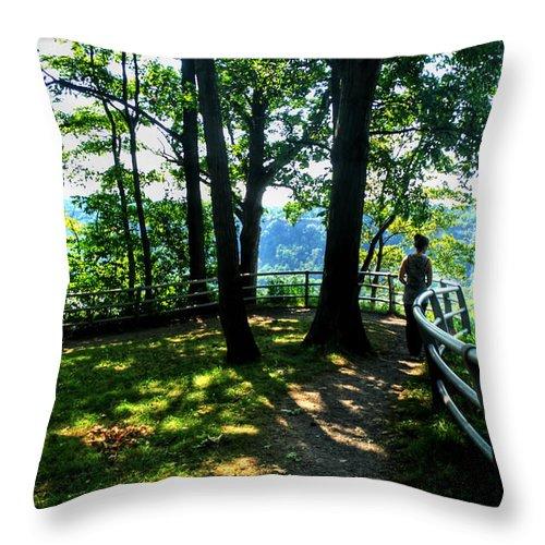 Throw Pillow featuring the photograph 012b Niagara Gorge Trail Series by Michael Frank Jr