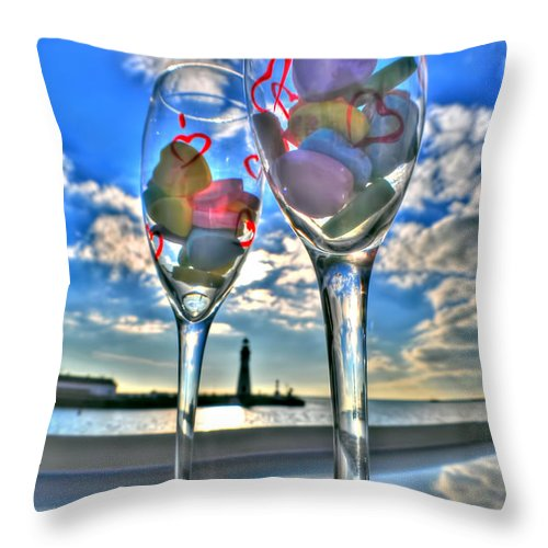 Throw Pillow featuring the photograph 03 Love Is In The Air by Michael Frank Jr