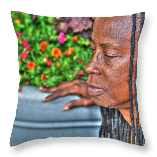 Throw Pillow featuring the photograph 03 The Lioness by Michael Frank Jr