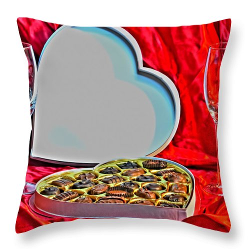 Throw Pillow featuring the photograph 05 Valentines Series by Michael Frank Jr