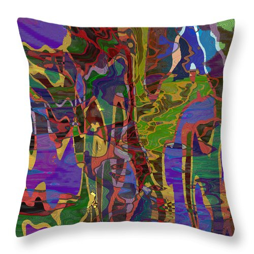Abstract Throw Pillow featuring the digital art 0661 Abstract Thought by Chowdary V Arikatla