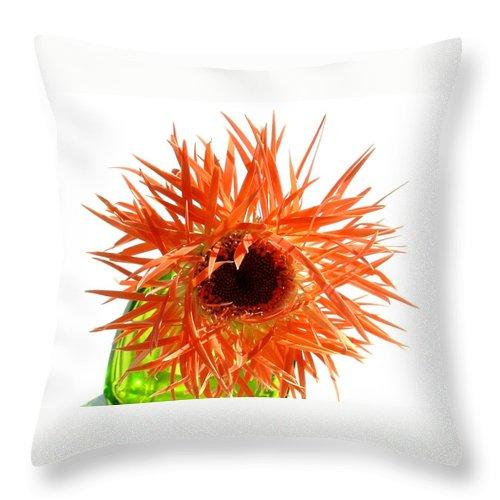 Gerbera Photographs Throw Pillow featuring the photograph 0690c-017 by Kimberlie Gerner