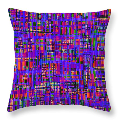 Abstract Throw Pillow featuring the digital art 0714 Abstract Thought by Chowdary V Arikatla
