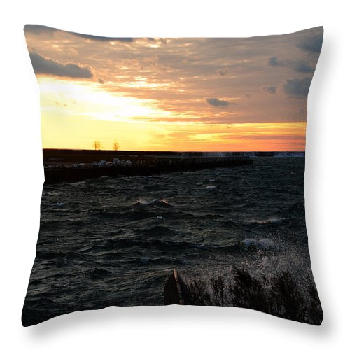 Throw Pillow featuring the photograph 08 Sunset by Michael Frank Jr
