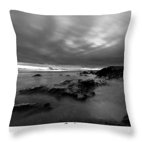 Seascape Throw Pillow featuring the photograph  by Beverly Cash