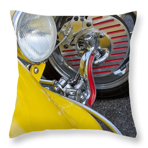 1929 Ford Model A Roadster Throw Pillow featuring the photograph 1929 Ford Model A Roadster Wheel by Jill Reger