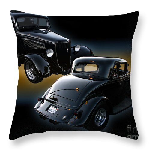 1934 Ford Coupe Throw Pillow featuring the photograph 1934 Ford Coupe by Peter Piatt