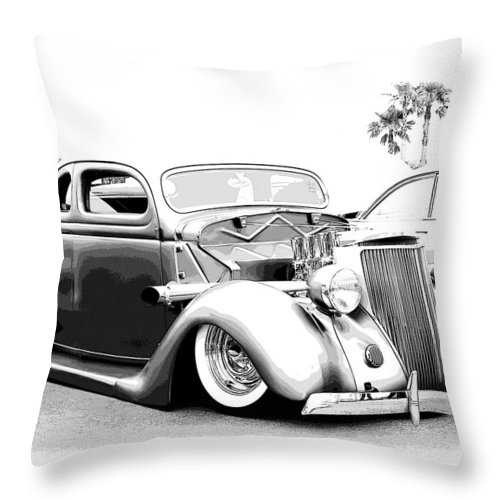 Chopped Throw Pillow featuring the photograph 36 Ford by Steve McKinzie