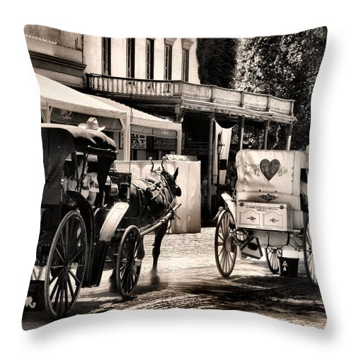 Western Throw Pillow featuring the photograph A Cowgirls Limousine by Sally Bauer