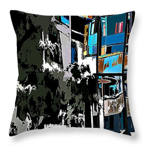 Abstract Throw Pillow featuring the photograph Abstract 24 by Burney Lieberman
