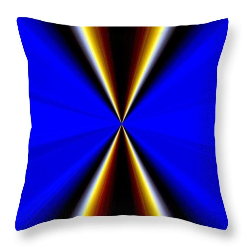 Abstract Fusion Throw Pillow featuring the digital art Abstract Fusion 60 by Will Borden