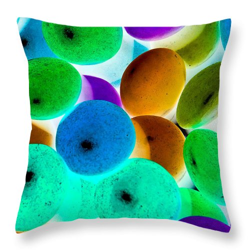 Negative Throw Pillow featuring the digital art Abstract Negative Art by David Pyatt