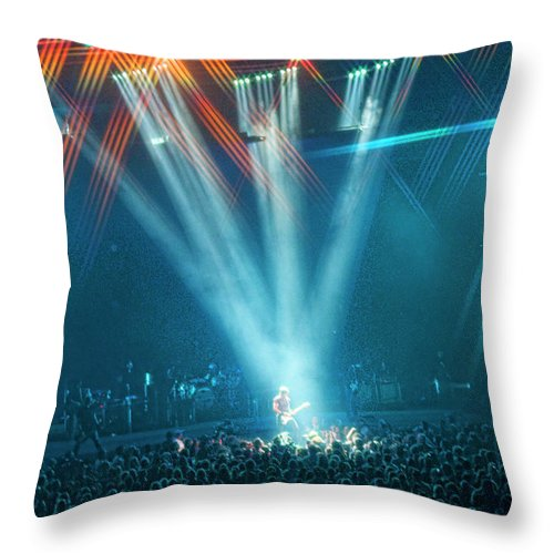 Keith Urban Throw Pillow featuring the photograph All For The Hall by Sheri Bartoszek