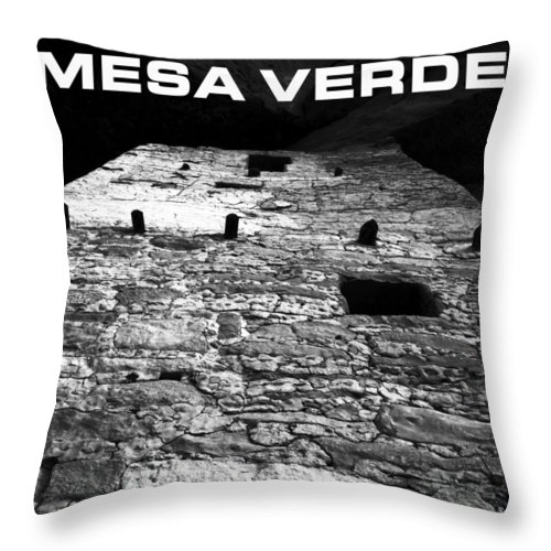 Fine Art Photography Throw Pillow featuring the photograph Anasazi Home by David Lee Thompson