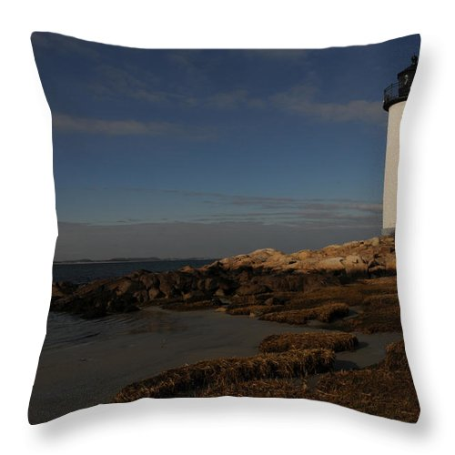 Annisquam Throw Pillow featuring the photograph Annisquam Light by Mike Martin