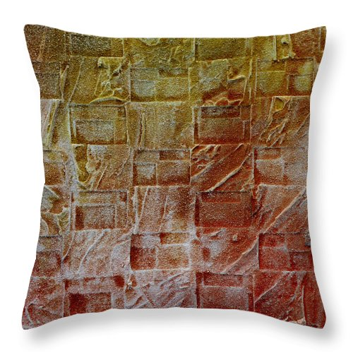 Autumn Throw Pillow featuring the painting Autumn 55 by Jorge Berlato