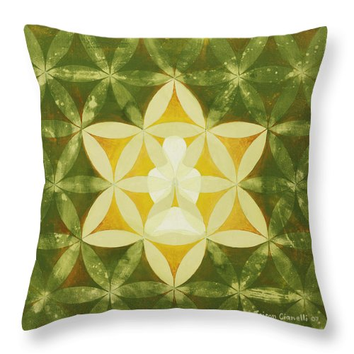 Spiritual Art Throw Pillow featuring the painting Balance by Jaison Cianelli