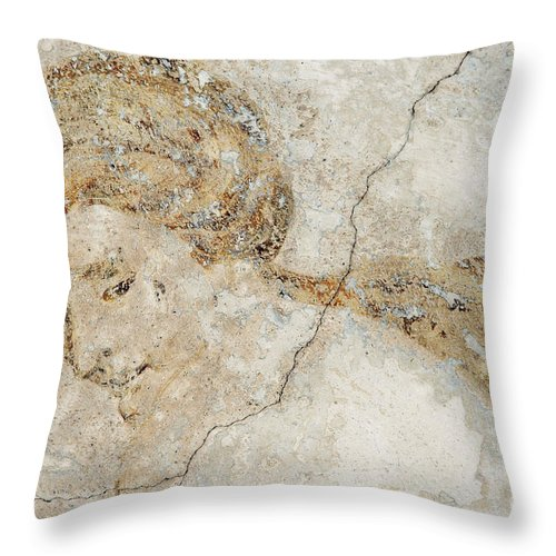 Mural Throw Pillow featuring the photograph Baroque Mural Painting by Michal Boubin