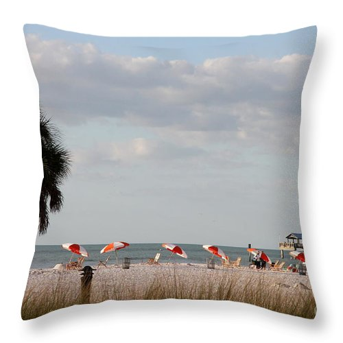 Beach Throw Pillow featuring the photograph Beach Life by Christiane Schulze Art And Photography