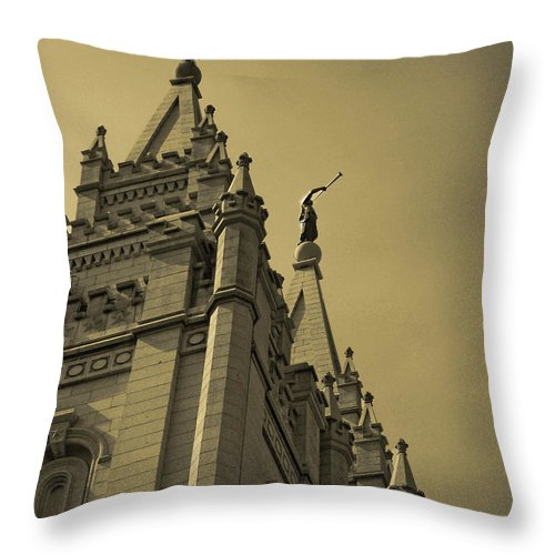The Church Of Jesus Christ Of Latter-day Saints Throw Pillow featuring the photograph Behold I Speak Unto You by Joshua House