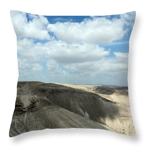 Bethlehem Throw Pillow featuring the photograph Bethlehem Desert by Munir Alawi