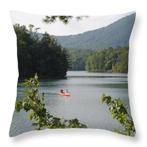 Big Throw Pillow featuring the photograph Big Canoe by Jost Houk