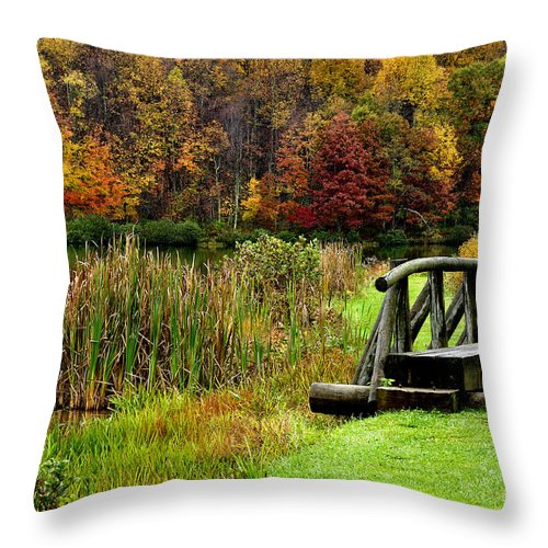 West Virginia Throw Pillow featuring the photograph Big Ditch Lake by Thomas R Fletcher