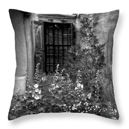 New Mexico Throw Pillow featuring the photograph Cafe Window by David Patterson