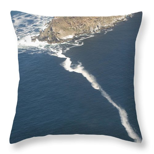 Indian Ocean Throw Pillow featuring the photograph Cape Point, The Dividing Point by Stacy Gold