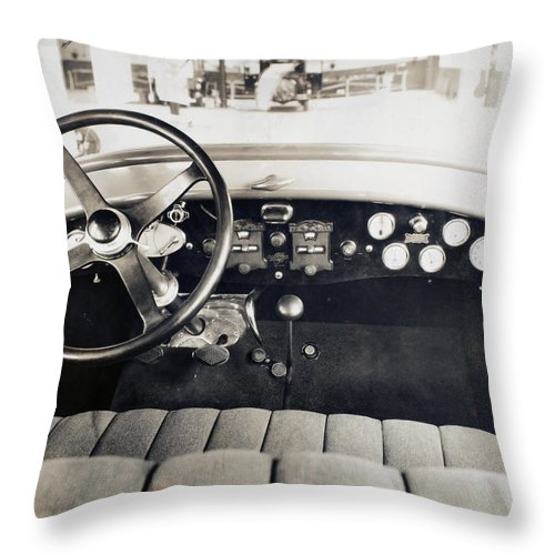 1940 Throw Pillow featuring the photograph Car Radio, C1940 by Granger