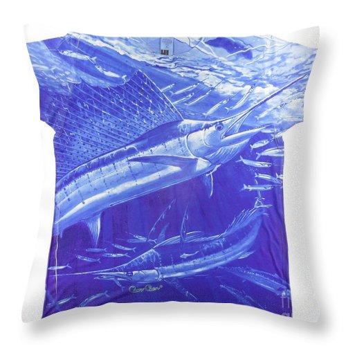 Sailfish Throw Pillow featuring the digital art Carey Chen Mens Sailfish Shirt by Carey Chen