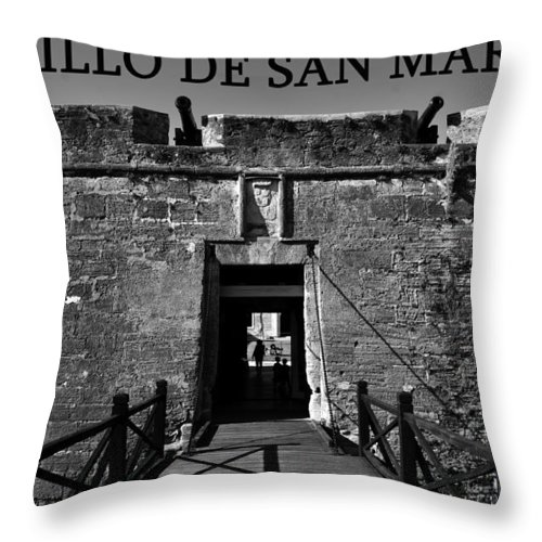 Fine Art Photography Throw Pillow featuring the photograph Castillo De San Marcos by David Lee Thompson