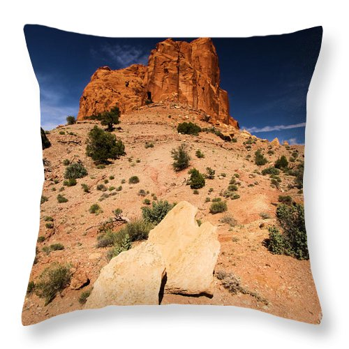 Capitol Reef National Park Throw Pillow featuring the photograph Castle In The Sky by Adam Jewell
