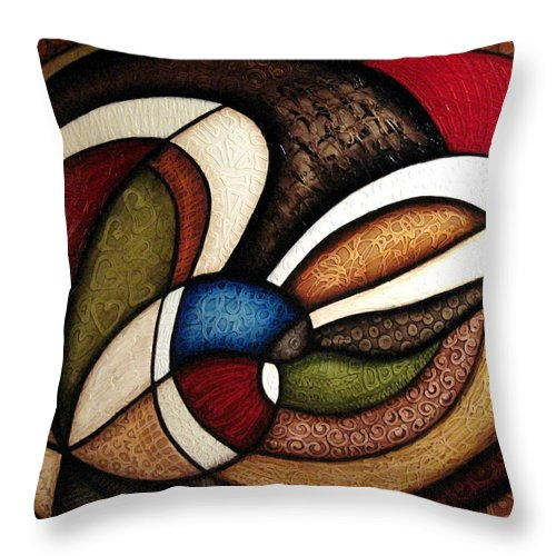 Abstract Art Throw Pillow featuring the painting Christian Smith 3 by Jill English