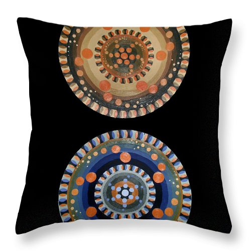 Throw Pillow featuring the painting Circles by Kate Fortin