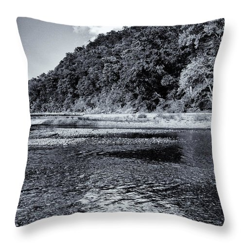 Cloud Throw Pillow featuring the photograph Cloud Over The River by Joshua House