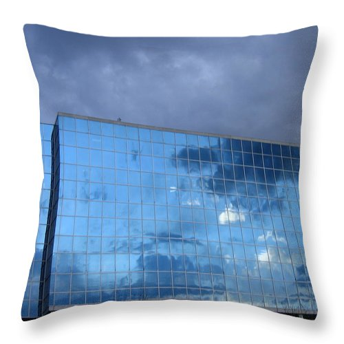 Clouds Throw Pillow featuring the photograph Cloud Reflection by Denise Keegan Frawley