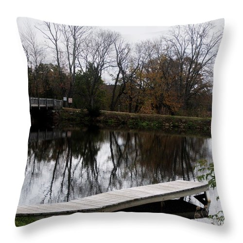 Uxbridge Mass Throw Pillow featuring the photograph Coming Winter by Barry Doherty