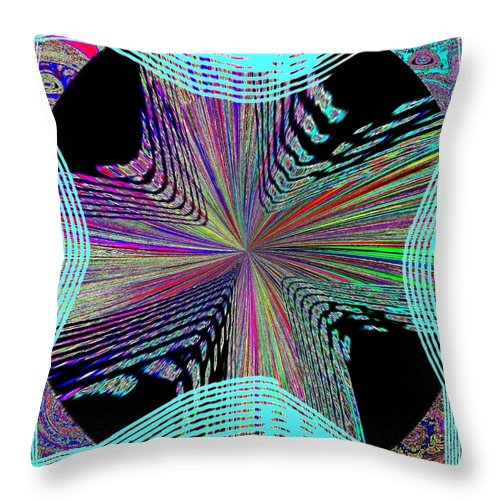 Abstract Throw Pillow featuring the digital art Conceptual 21 by Will Borden