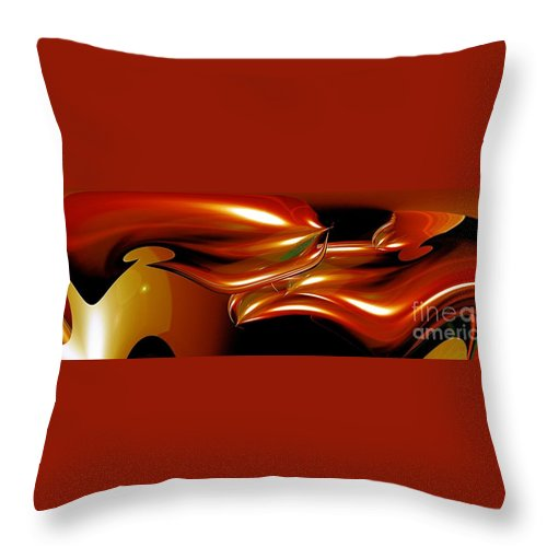Abstracts Throw Pillow featuring the photograph Cosmic Fish by Mike Nellums