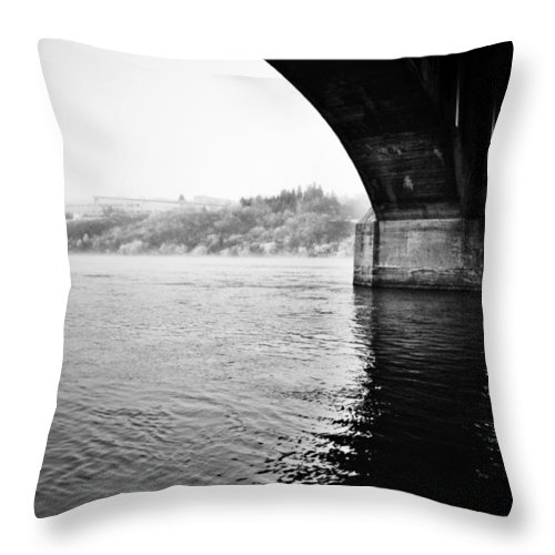 Black And White World Photographer Throw Pillow featuring the photograph Cross Two Free by The Artist Project