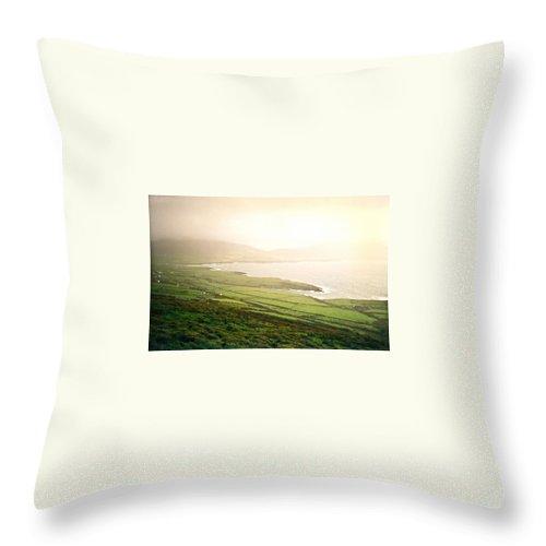 Dingle Throw Pillow featuring the photograph Dingle Peninsula Shoreline 2 by Douglas Barnett