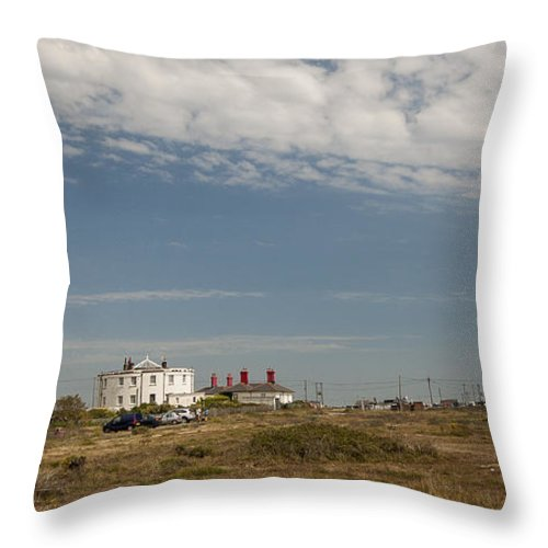 Boat Throw Pillow featuring the photograph Dungeness Landscape by Dawn OConnor