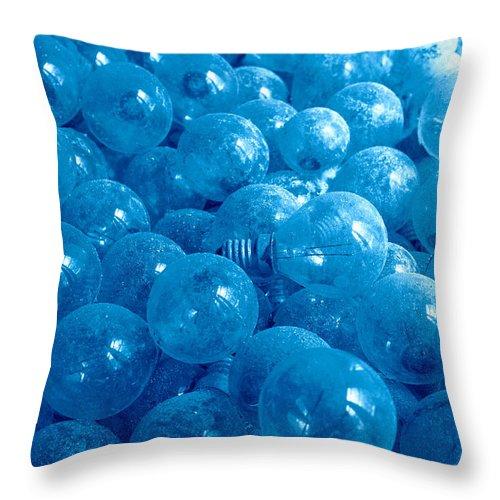 Lights Throw Pillow featuring the photograph Dusty Light Bulbs by Gaspar Avila