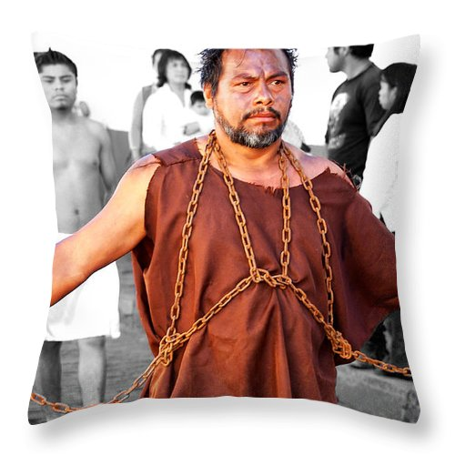 People Throw Pillow featuring the photograph Easter Passion by David Resnikoff